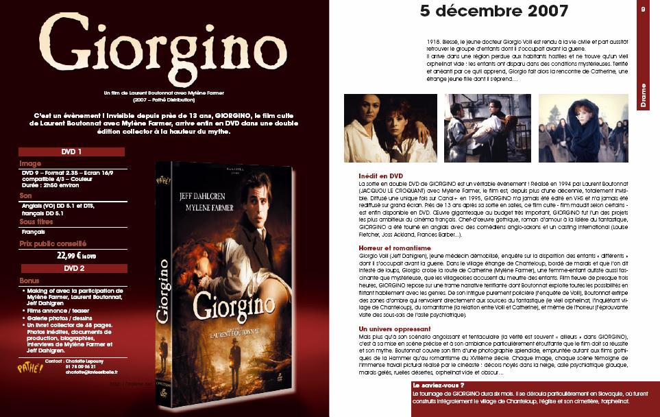 Sortie du DVD de Giorgino dans Mylène 2007 - 2008 Giorgino22
